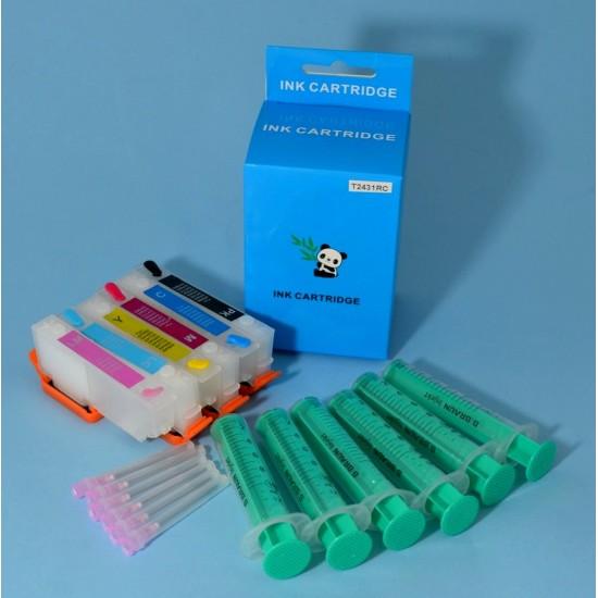 Cartuchos Rellenables para Epson XP-750 Autoreseteables Kit sin Tinta