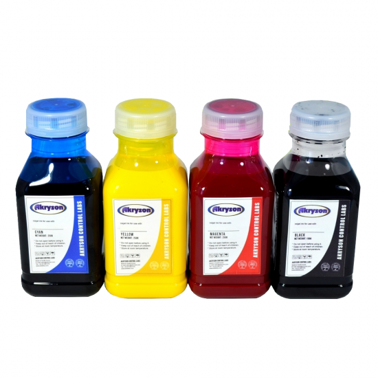 Tinta de Impresión Digital Textil Pack 4 Botellas 250ml