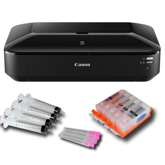 Pack Impresora Tinta Comestible Canon IX6850 A3 mas Cartuchos Recargables Vacíos