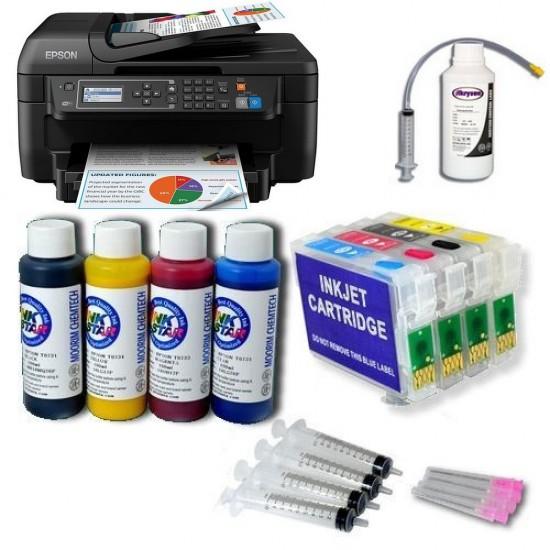 Pack Impresora Epson WF-2750 + Tintas Pigmentadas + Cartuchos Autoreseteables