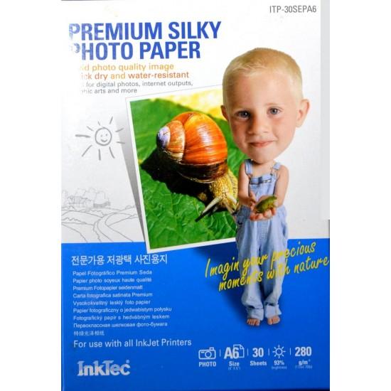 Papel fotográfico Satinado A6 Inkjet 280 g/m² - 30 hojas