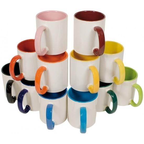 Taza de Color Interior con Asas de 11 Onzas,