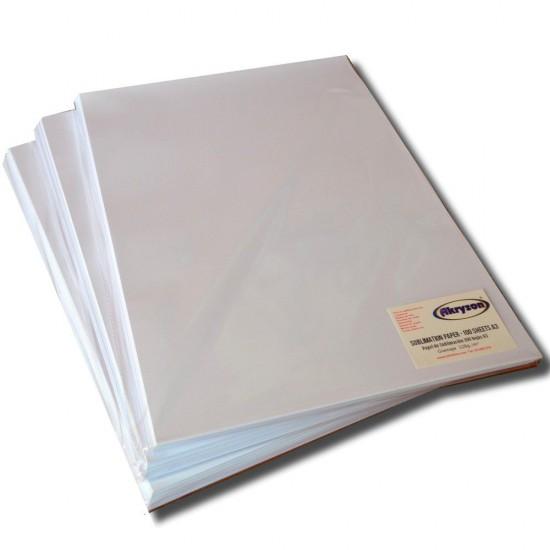 Papel Sublimacion Premium A4 para Rigidos y Textil Camisetas Gorras Platos Placas Azulejos etc 100 hojas 128gr/m2