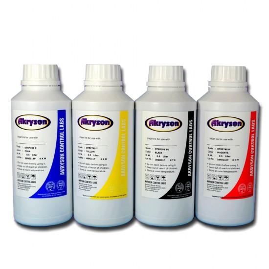 Compatible Epson Tinta de Sublimación Pack 4 Botellas 500ml Tinta para Recarga