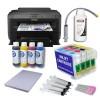 Impresora de Sublimación A3 Pack + Cartuchos Recargables Autoreseteables mas Tinta