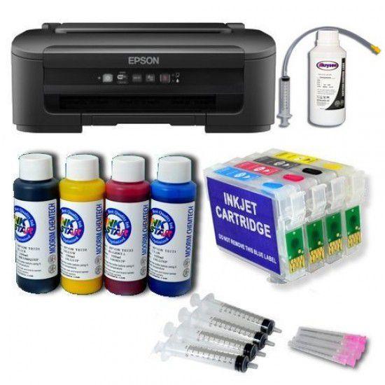 Pack Impresora Epson WF-2010W + Tintas Pigmentadas + Cartuchos Autoreseteables