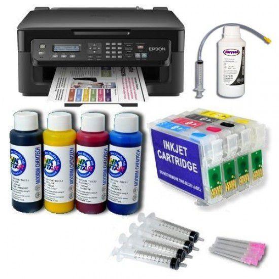 Pack Impresora Epson WF-2510WF + Tintas Pigmentadas + Cartuchos Autoreseteables