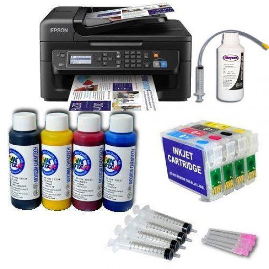 Pack Impresora Epson WF-2630WF + Tintas Pigmentadas + Cartuchos Autoreseteables