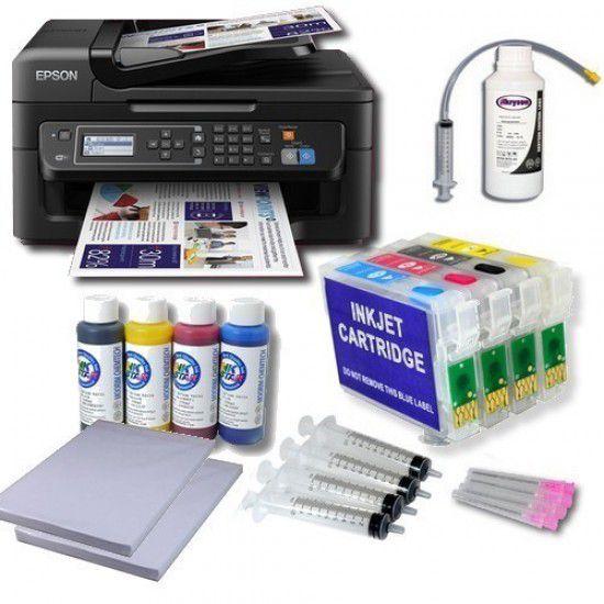 Pack Impresora Epson WF-2630WF + Tintas de Sublimación + Cartuchos Autoreseteables
