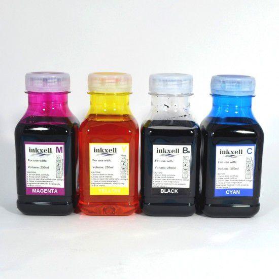 Tinta para Recarga Lexmark Universal Pack de 4 Botellas de 250ml Linea Economica