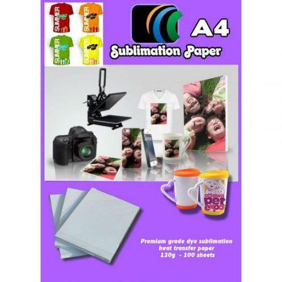 Papel Sublimacion Premium para Epson A4 para Rigidos y Textil Camisetas Gorras Platos Placas Azulejos etc 100 hojas 100gr/m2