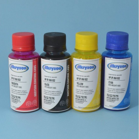 Tinta Recarga Hp Officejet 7510 Pack 4x100ml Pigmentada para Cartuchos Hp 932XL & Hp 933XL
