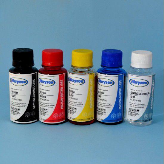 Tinta Recarga Hp Envy Photo 7134 Pack 4x100ml + Liquido limpiador