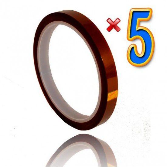Cinta Adhesiva Térmica Sublimación 10mm 33 metros 5 Unidades