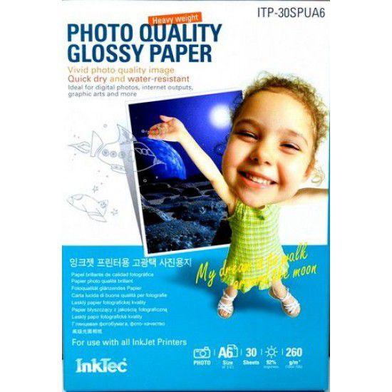 Papel para Impresora Fotografico Brillante 260 gr A6 30 hojas