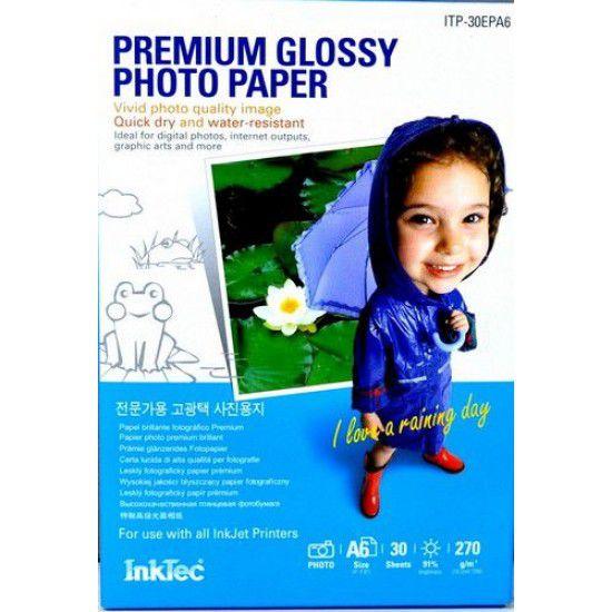 Papel para Impresora Fotografico Satinado 270 gr A6 30 hojas