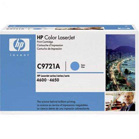 Hp LaserJet 4600dn Toner Cyan Hp C9721A Original C9721A