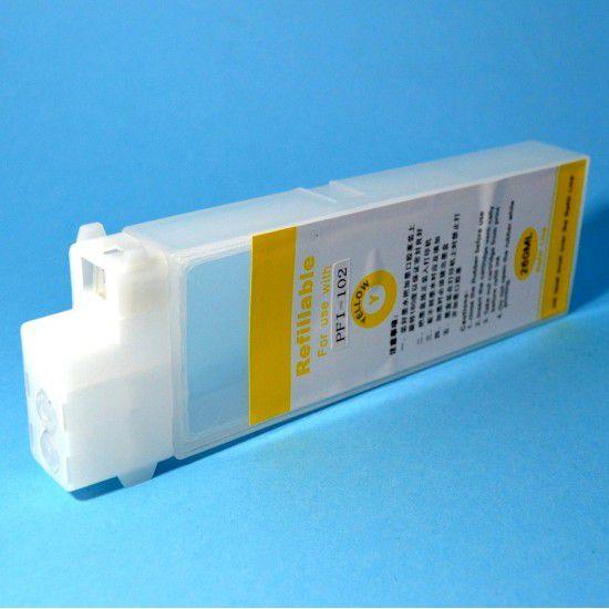 Cartucho para Canon iPF500 Recargable Reutilizable Amarillo con Chip Permanente