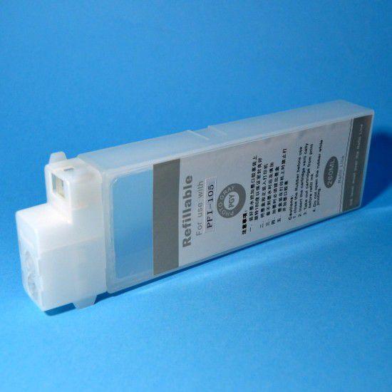 Cartucho para Canon iPF6450 Recargable Reutilizable Photo Gris con Chip Permanente