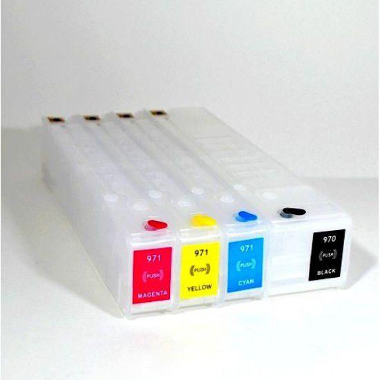 Compatible Hp Officejet Pro X576dw Pack 4 Cartuchos Recargables Autoreseteables 970 971