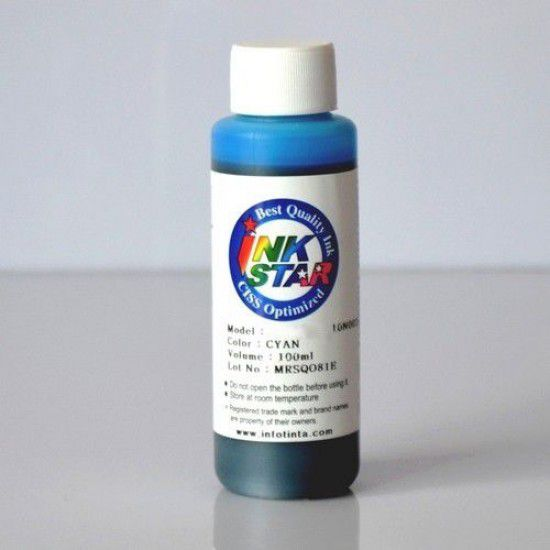 Botella de Tinta para Recarga Brother 100ml Cyan