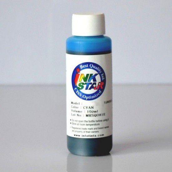 Botella Tinta para Recarga Hp 100ml Cyan