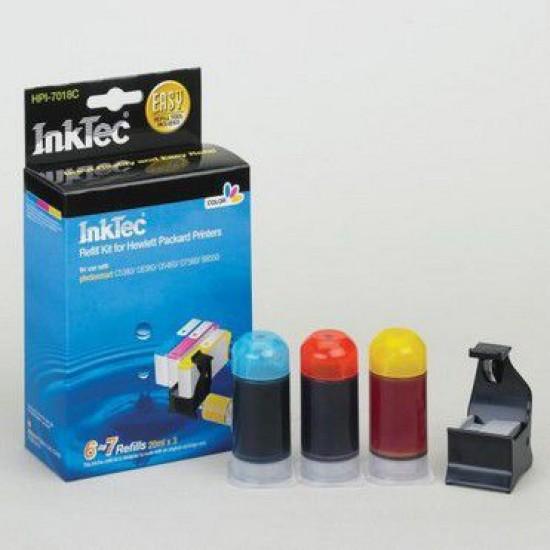 Kit de Recarga Color para Hp Photosmart Plus e-AiO B210e