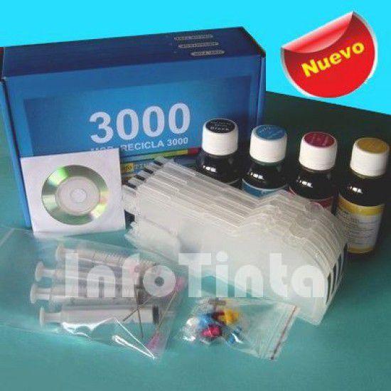 Kit de Recarga de Cartuchos KIT para Impresoras Brother LC980 LC1100