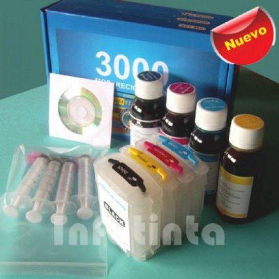 Kit de Recarga de Cartuchos para Impresora Hp K550 L7480 L7580