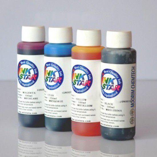 Tinta para Recarga Cartuchos Hp 62 62xl Pack 4 Botellas de 100ml