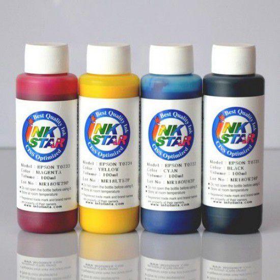 Tinta para Recarga Epson Pack 4 Botellas 100ml Pigment