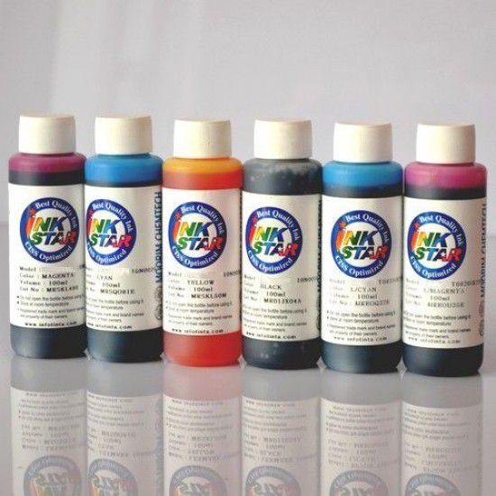 Tinta para Recarga Epson Pack 6 Botellas de 100ml  (impresoras de 6 Tintas)
