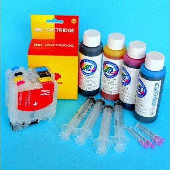 Brother DCP-J125 Cartuchos Recargables Autoreseteables Kit con Tintas
