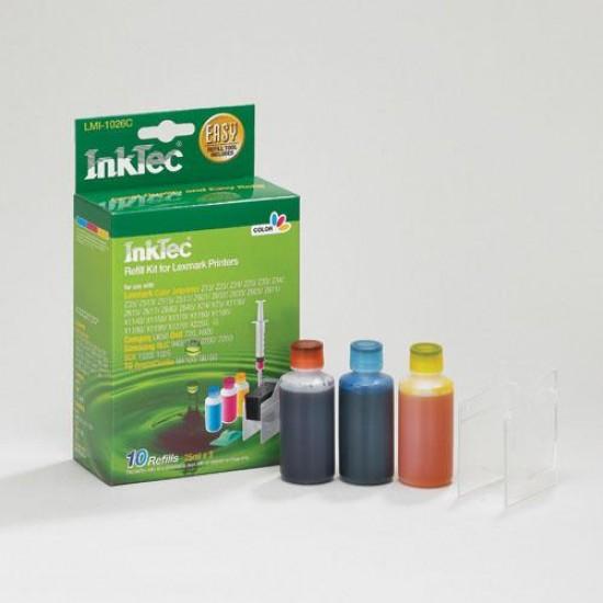 Kit Recarga Tinta para Lexmark X1180 Color