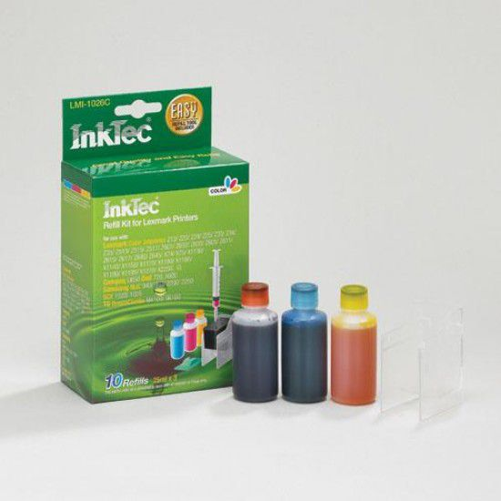 Kit Recarga Tinta para Lexmark Z23 Color