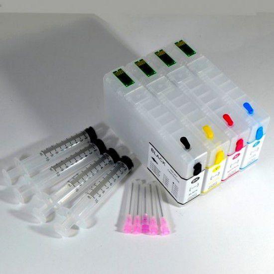 Cartuchos Rellenables para Epson WF-4640DTWF Autoreseteables Kit sin Tinta