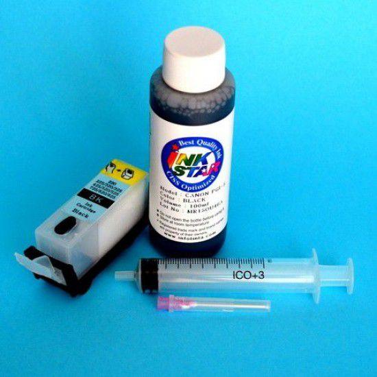 Canon IX6550 Cartucho Recargable Vacio Negro Pigmentado mas Tinta