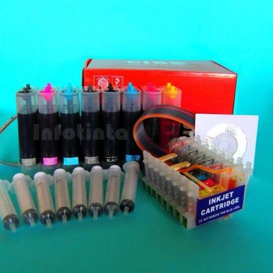 CISS Tinta para Impresoras Epson R800 R1800 Recargado