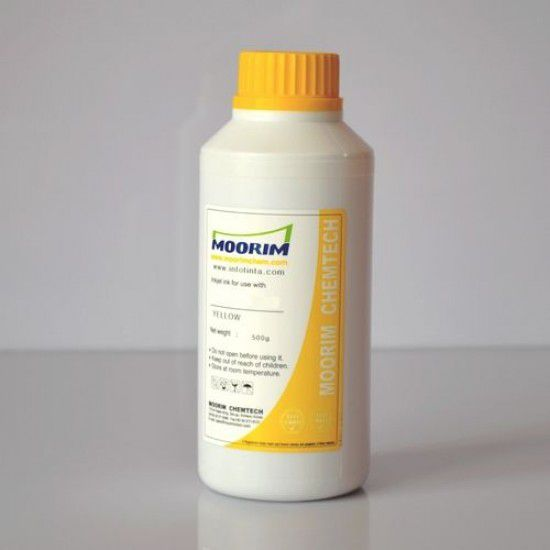 Tinta de Recarga Piezo base agua para Plotter Mimaki JV-1300 Amarillo 1/2 Litro
