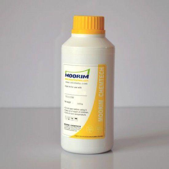 Compatible Mimaki JV400-130LX Amarillo 1/2 Litro Tinta para Recarga Base Agua