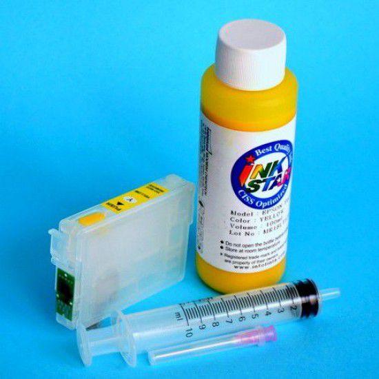 Cartucho recargable para Epson DX7450 vacio Amarillo mas Tinta