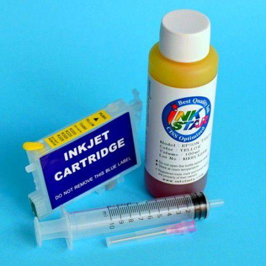 Cartucho recargable para Epson R200 vacio Amarillo mas Tinta