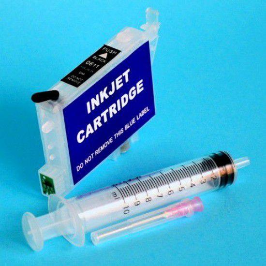 Cartucho Recargable para Epson R240 Autoreseteable Vacio Negro