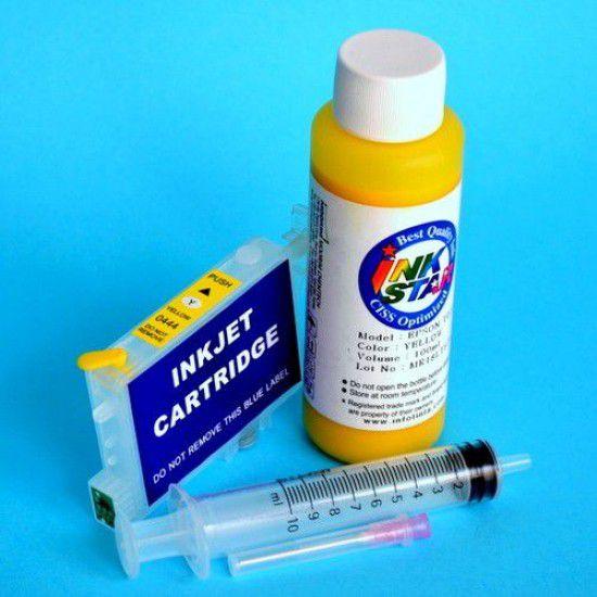 Cartucho recargable para Epson R240 vacio Amarillo mas Tinta
