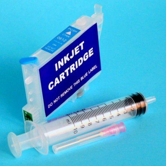 Cartucho Recargable para Epson R245 Autoreseteable Vacio Cyan