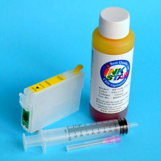 Cartucho Recargable para Epson RX595 Autoreseteable Vacio Amarillo mas Tinta