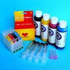 Cartuchos Rellenables para Epson RX420 Autoreseteables Kit con Tintas