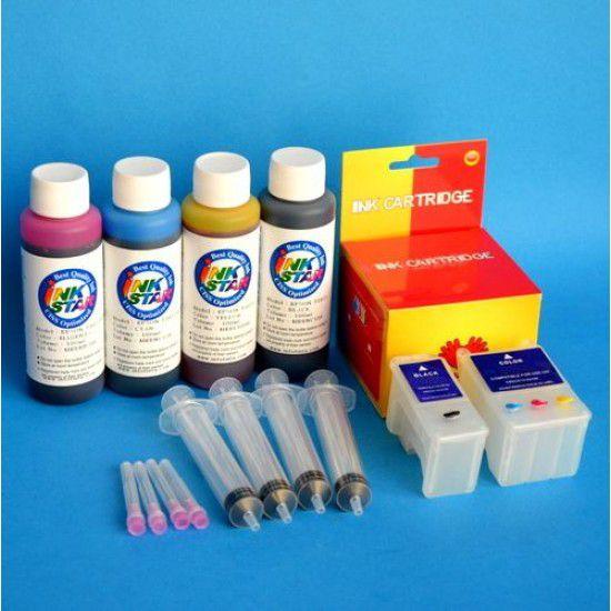Cartuchos Rellenables para Epson Scan 2500Pro Autoreseteables Kit con Tintas