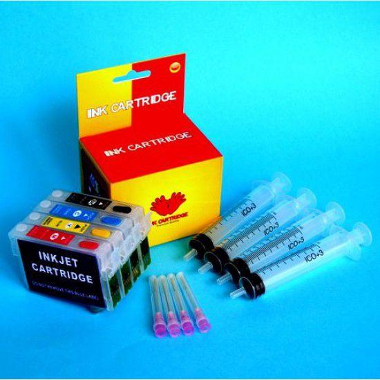 Cartuchos Rellenables para Epson WF-3540DTWF Autoreseteables Kit sin Tinta