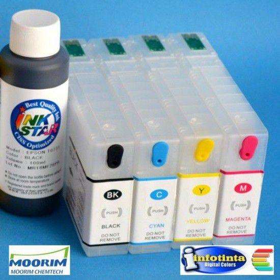 Cartuchos Rellenables para Epson WP-4015 DN Autoreseteables Kit sin Tinta
